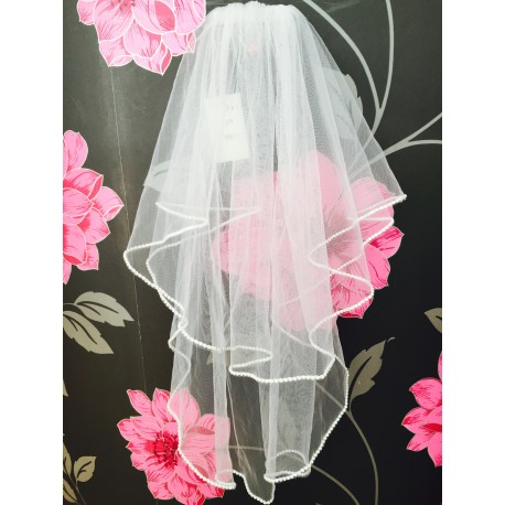 Communion Veil with Diamond Edging by Little People Style 797