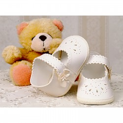 Baby Girl Ivory Leather Christening/Special Occasions Shoes Style 2798/7