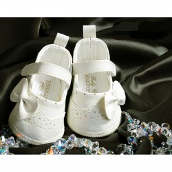 Baby Girl Ivory Leather Wedding/Christening/Baptism Dress Shoes Style 4693/195