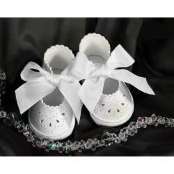 Baby Girl White Christening/Special Occasions Leather Shoes Style 4709/200