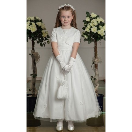 First Communion Dress&Short Sleeve Bolero by Olivia K Style OK296