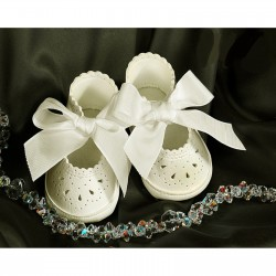 Baby Girl Ivory Christening/Special Occasions Leather Shoes Style 4709/200