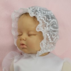 Lace Baby Girl Christening Bonnet CK15