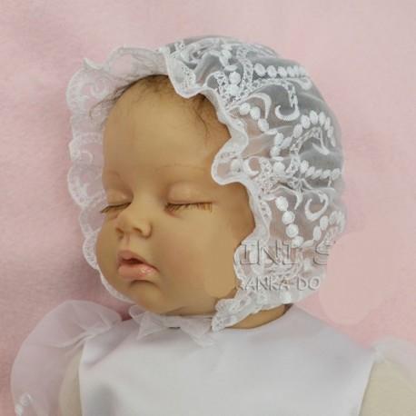 Lace Baby Girl Christening Bonnet CK15