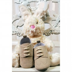 Baby Boys Beige Suede Leather Christening/Wedding/Pram/ Formal Party Shoes Style 4143/177