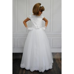 Handmade Lace/Satin&Organza Communion Dress Anabel