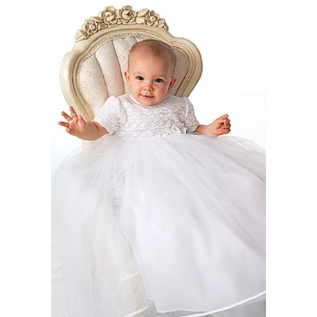 Sarah Louise White Christening Gown&Bonnet Style 087