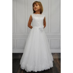Elegant Full Length Handmade Communion Dress Anna