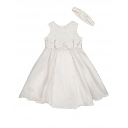 Couche Tot Baby Girls Ivory Ribbon Christening Dress Style 1321