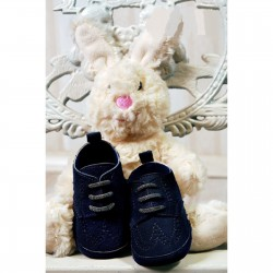 Baby Boys Navy Suede Leather Christening/Wedding/Pram/ Formal Party Shoes Style 4143/191
