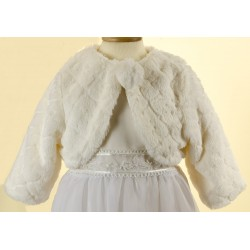 Ivory Faux Fur Bolero by Sevva