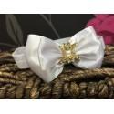 Satin Bow Diamanté Buckle Baby Headband Style 373
