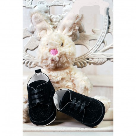 Baby Boys Black Suede Leather Christening/Wedding/Pram/ Formal Party Shoes Style 4143/174