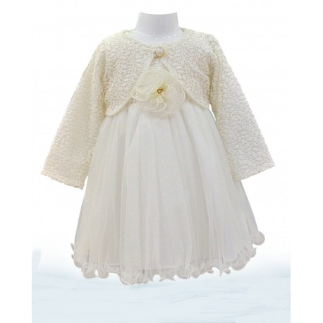 Girls Ivory Special Occasion Dress & Bolero Style SB822