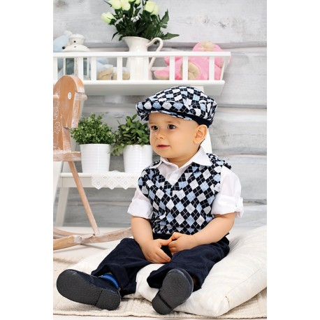 Christening/Special Occasions Outfit for Boys Navy Style YA005L