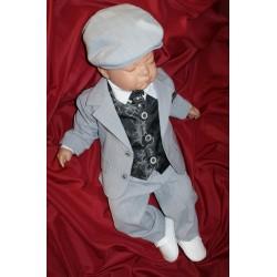 Baby Boys Grey&Black 6 Piece Suit Cameron