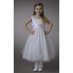 Couche Tot White Sleeveless Flower Girl/Christening Dress Style 2900A