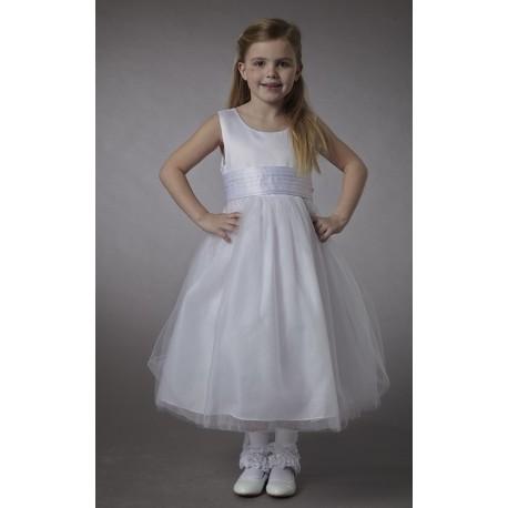 Couche Tot White Sleeveless Flower Girl/Christening Dress Style 2900A