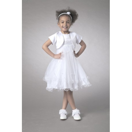 Couche Tot Baby Dress/Special Occasion Dress with Bolero.