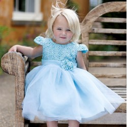 Couche Tot Girls Turquoise Special Occasion/Flower Girl Dress Style 152A