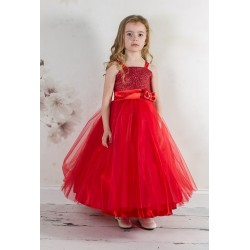 Couche Tot Red Party/Flower Girl Dress Style 1905