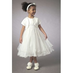 Couche Tot Ivory Girls Special Occasion Dress with Bolero 3561A
