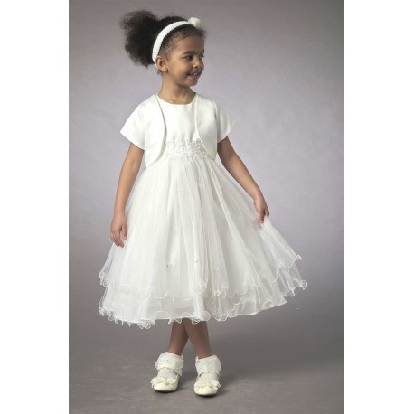 Couche Tot Ivory Baby Dress/Special Occasion Dress with Bolero 3561A