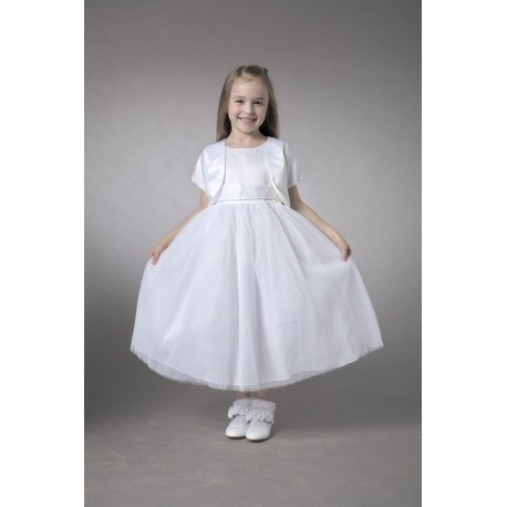 7be5c1bc2d9 Couche Tot White Flower Girl Special Occasion Dress Style 2755