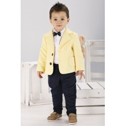 Boys Outfit Yellow Navy Style WA013