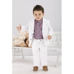 Boys White Outfits Style WS012