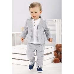 Boys Gray Outfit Style WS121