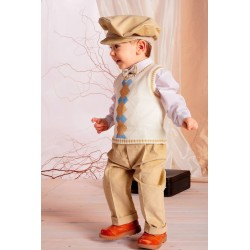 Casual/Special Occasions Outfit for Boys with an elegan vest . A012