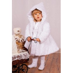 Baby Girls White Faux Fur Coat/ Jacket C007