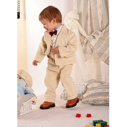 Special Occasions Corduroy Suit Set in Beige&Gold Style A015+