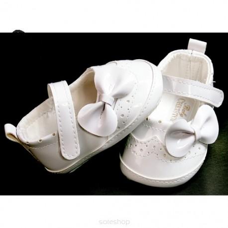 Baby Girl White Patent Leather Wedding/Christening/Baptism Dress Shoes Style 4693/195
