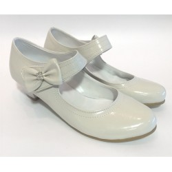 Girls Leather Ivory Special Occasions Shoes Style 130