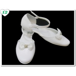 White Leather First Holy Communion Shoes Style 715