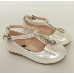 Ivory Leather Special Occasions Shoes Style 4378