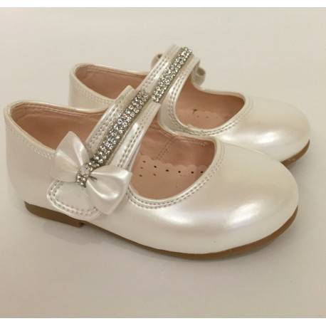 Ivory Leather Special Occasions Shoes Style 4360