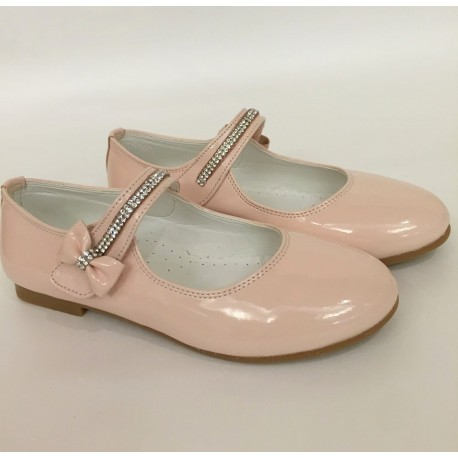 Dusky Pink Leather Special Occasions Shoes Style 4360