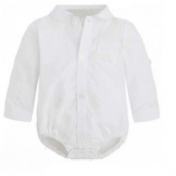 White Shirt Bodysuit for Baby Boy