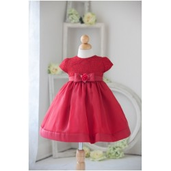 Red Flower Girls Dress by Sevva Style B815