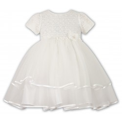 Ivory Ceremonial /Christening /Special Occasion Ballerina Length Baby Girl Dress from Sarah Louise 070015