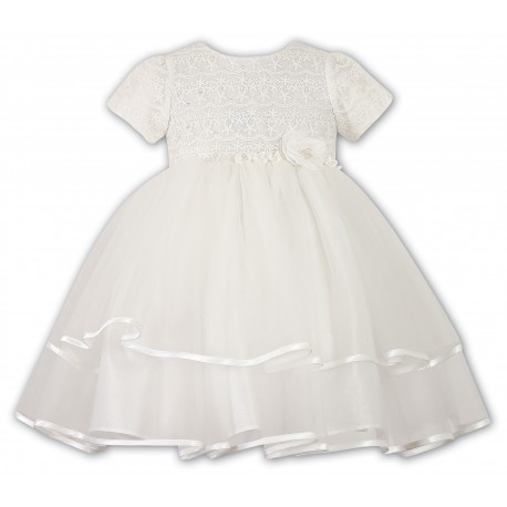 Ivory Ceremonial /Christening /Special Occasion Ballerina Length Baby Girl Dress from Sarah Louise 070015-2