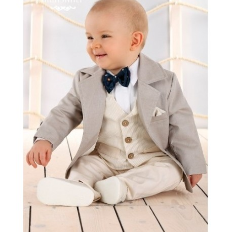 Baby Boys Beige/Ivory Special Occasions Set Style LA006