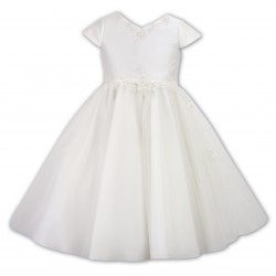 Ivory Ceremonial Ballerina Lenght Dress for Flower Girls/Special Occasions Style 070027