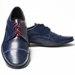 Elegant Boys Navy Leather Communion/Special Occasion Shoes bsh01