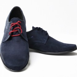 Navy Suede Leather Elegant Communion/Ceremonial Shoes bsh02