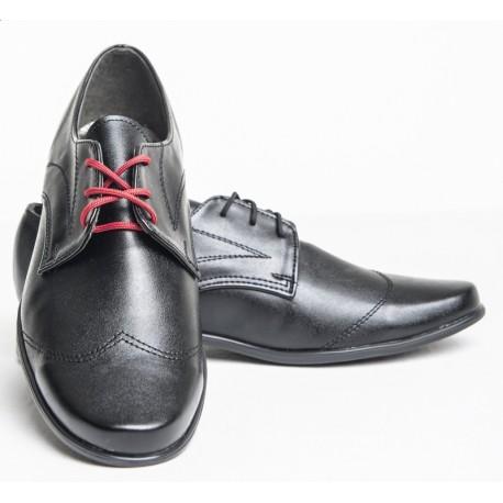 Black Leather Communion/Ceremonial Shoes bsh03