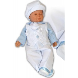 Pretty Blue and White Baby Boy Christening /Special Occasion Outfit 006/20R